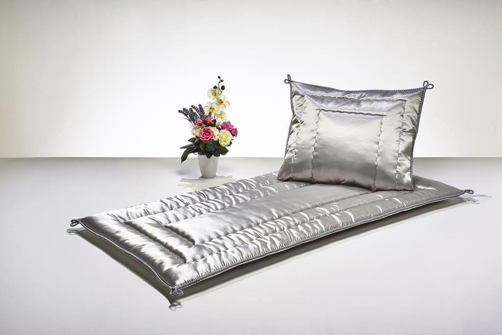 Deckengrt., Atlas grau, Kordel, 250 g/m²