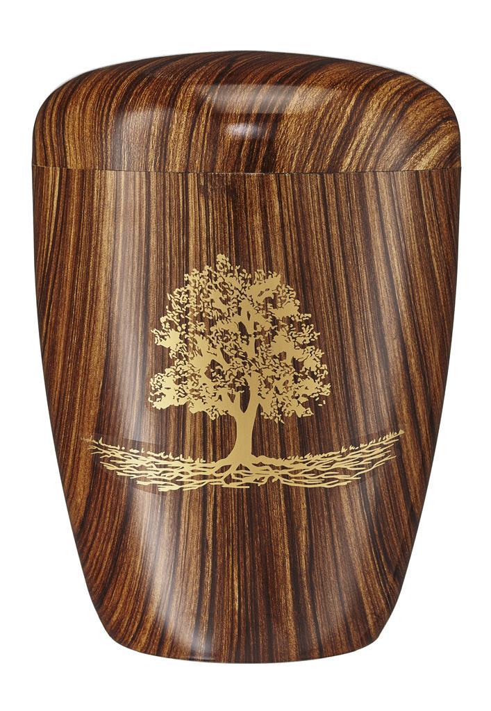 "Biourne nifty-walnuss, Foliebemblem ""Baum"" gold"