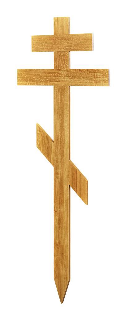Grabkreuz Form 16, Roteiche lackiert, orthodoxe Form, Höhe 162 cm