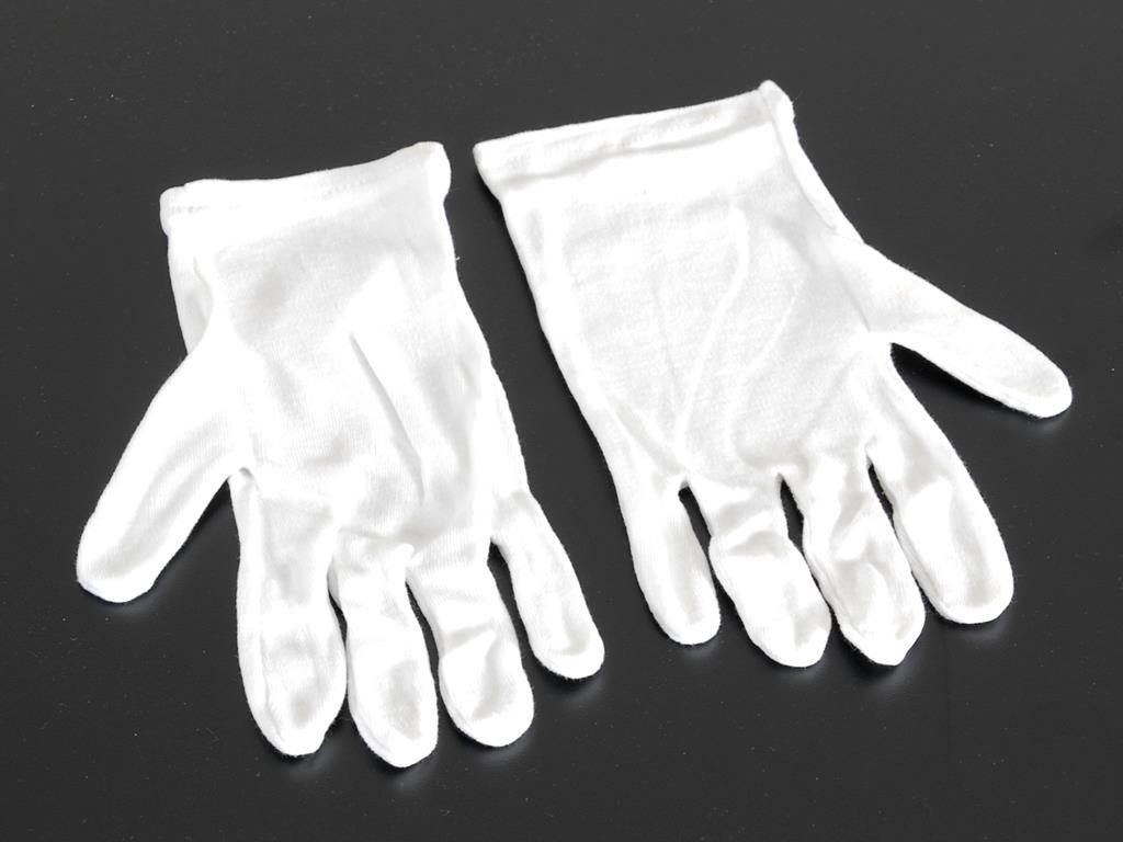 Trägerhandschuhe weiß, (Pack=6 Paar)