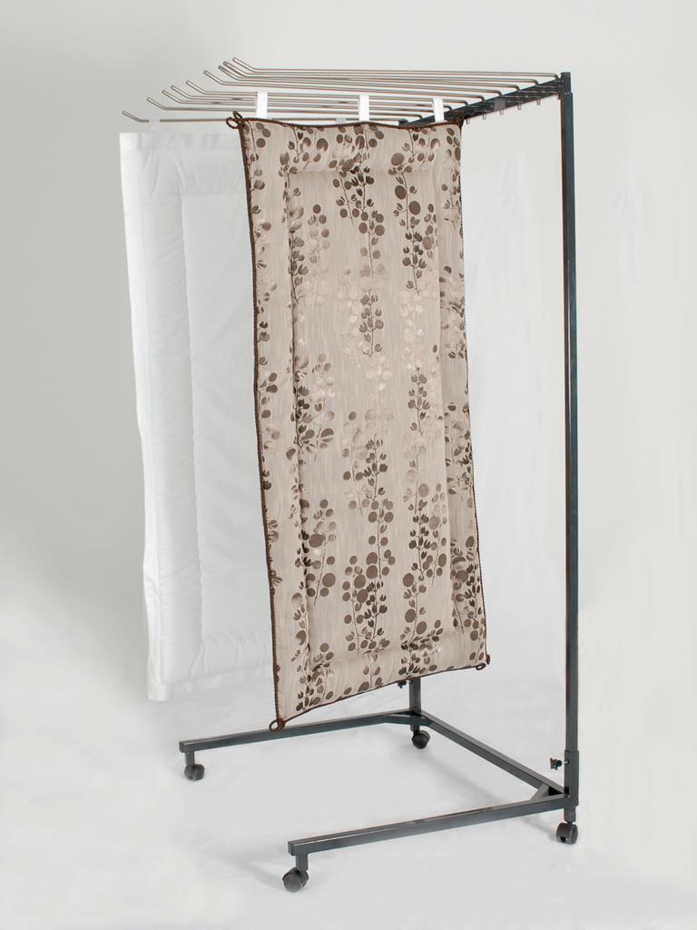 Deckenständer mit Schwenkbügel, pulverbeschichtet, 10 Bügel