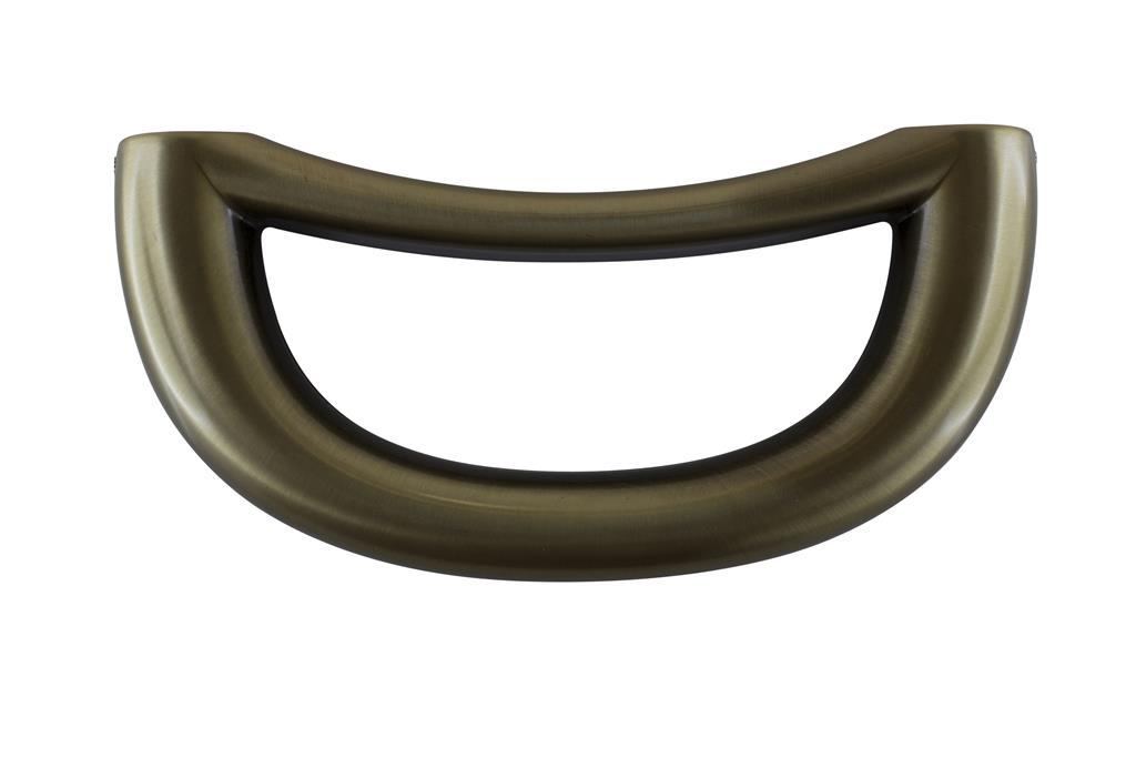 Finartgarnitur mit Zubehör 580, Feinzinkguss, altmessing-galv.