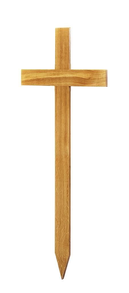 Grabkreuz Form 1, Roteiche lackiert, ohne Hohlkehle, 100x48x8 cm