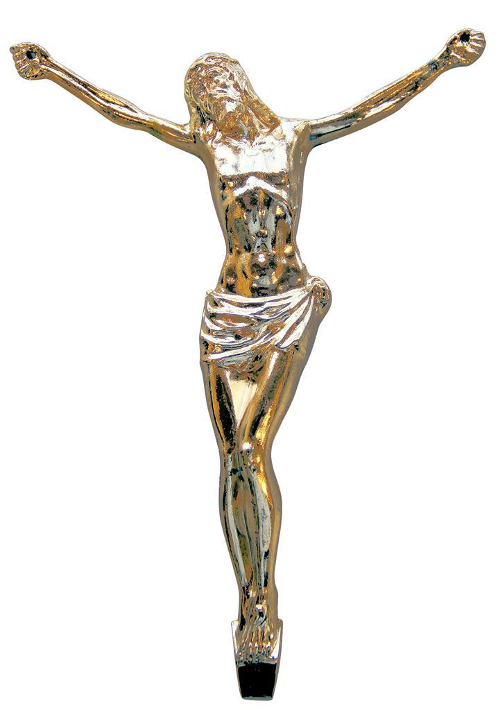 Christuskörper, 190mm messing-galv.