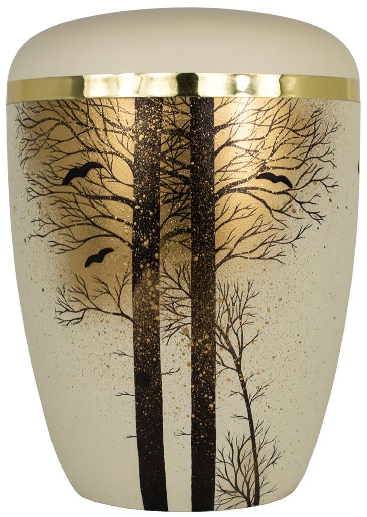 "Biourne glint-seashell, Design ""Wald"", Goldband"