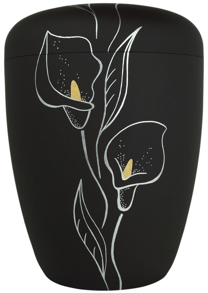"""Biourne glint-satin-black, Design """"Calla"""" in silber"""