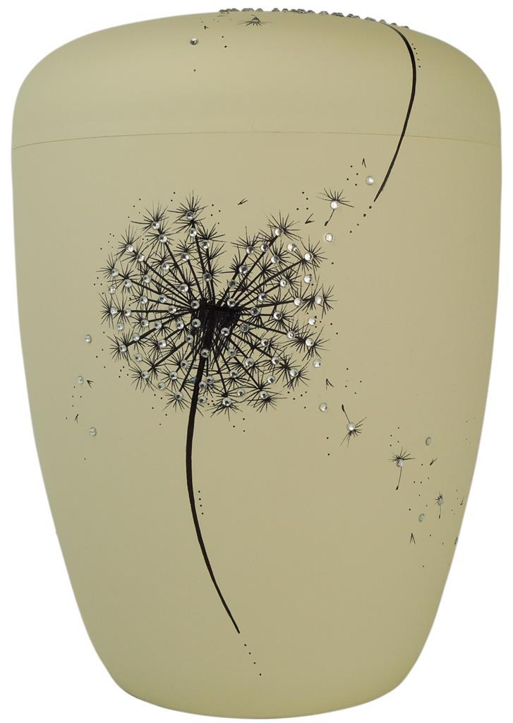 Biourne, glint-seashell lackiert, Design 'doppelte Pusteblume m. Strass'