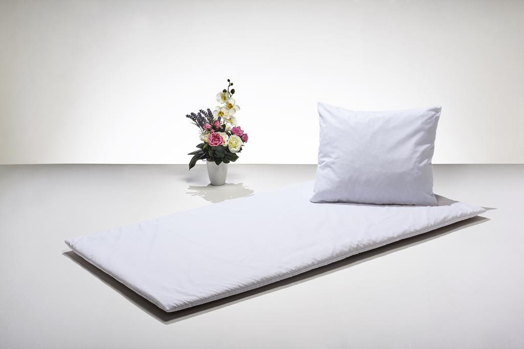 Nature Line - Deckengrt., BW-Linon weiß, 250 g/m² Schurwolle