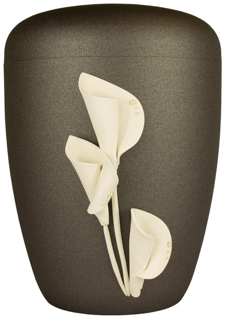 "Biourne glint-iron, Design ""Calla mit Perlen"""