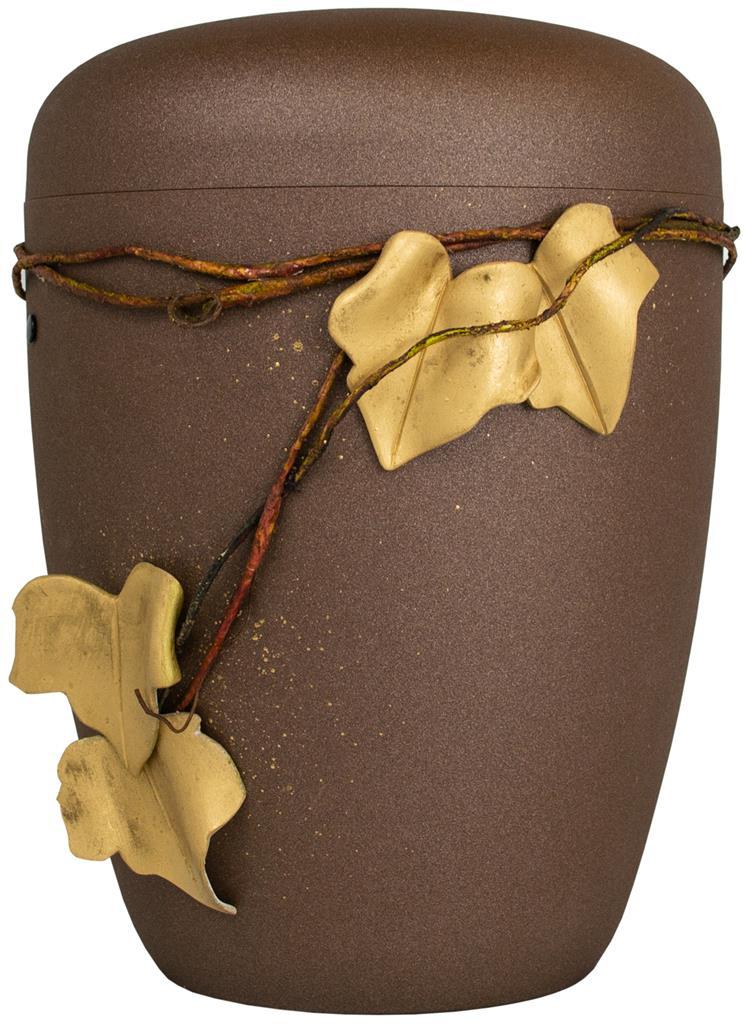 Biourne glint-bronze lackiert, Design 'Weinlaub'