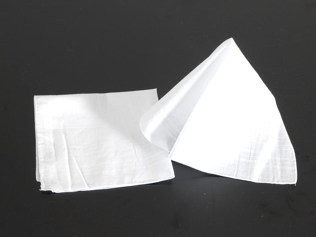 Taschentücher weiß, 40x40 cm, Pack = 12 Stück